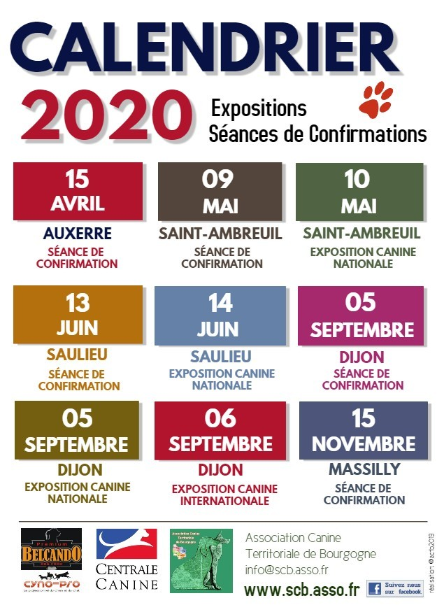 Calendrier Confirmation Lof 2021 Expositions, confirmations 2020